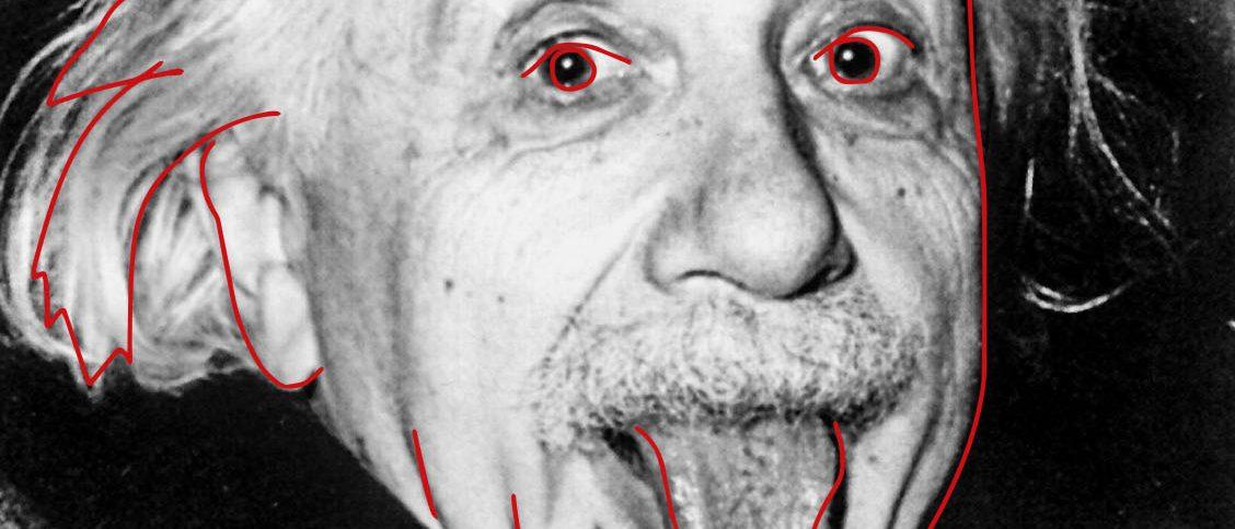 Einstein zeigt seine Zunge