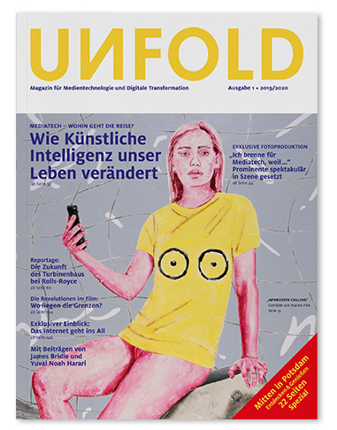 UNFOLD Magazin für Medientechnologie und Digitale Transformation erste Ausgabe